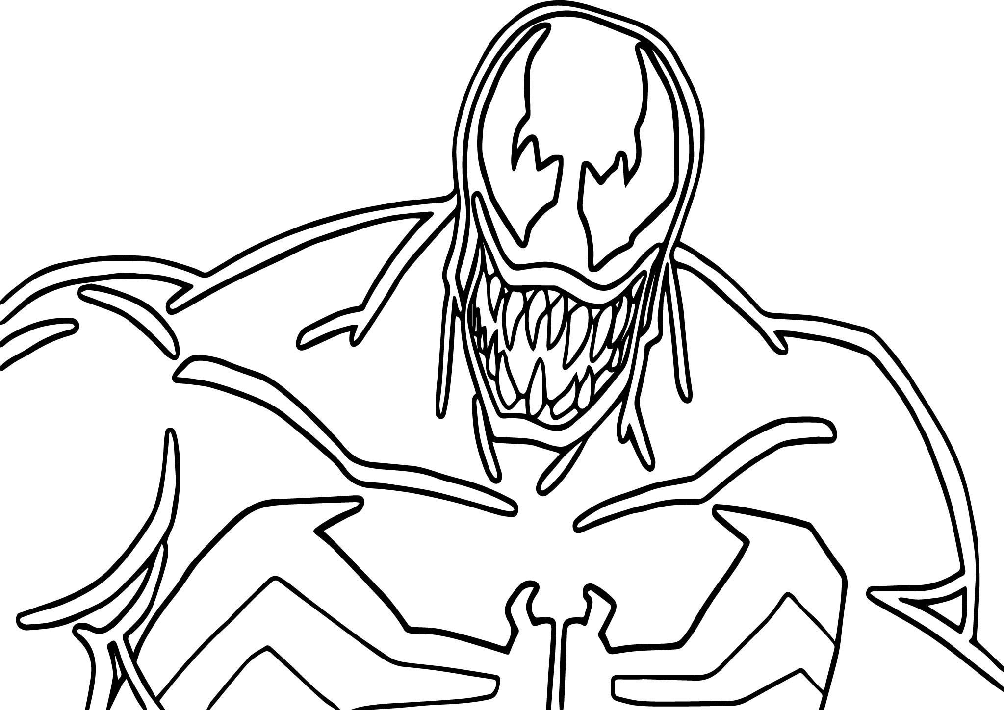 Venom Face Drawing At Getdrawings