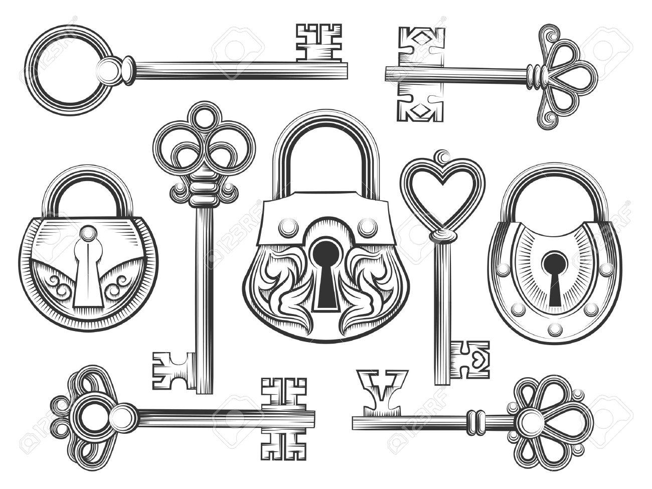 Vintage Key Drawing At Getdrawings