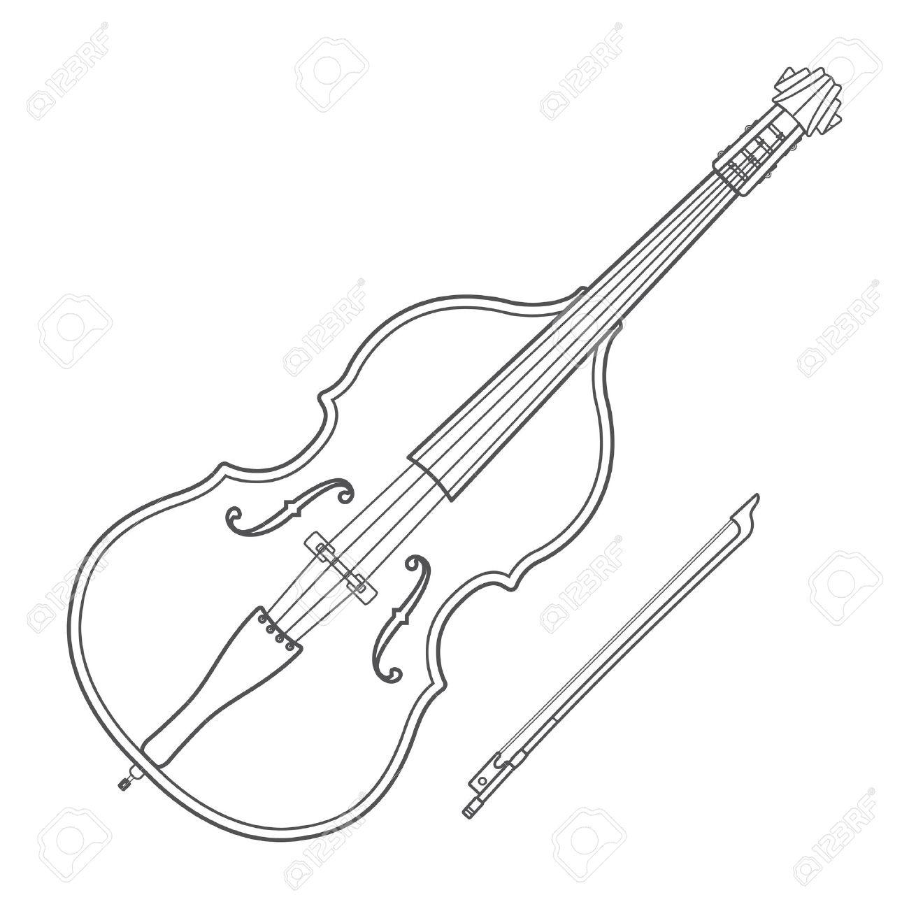 Violin Bow Drawing At Getdrawings