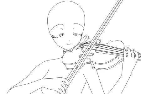 Violin Unit Study Coloring Page Free PDF Download At And Girl Drawing How To Draw A Playing Step By YouTube