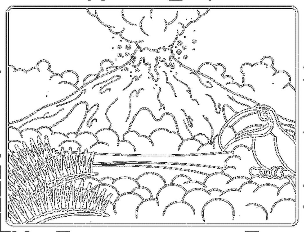 Volcano Cartoon Drawing At Getdrawings