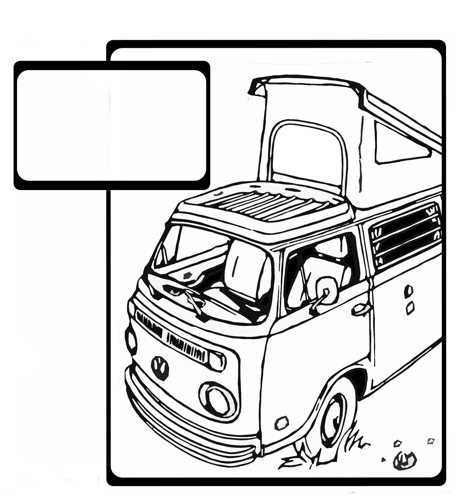 Vw Bus Line Drawing At Getdrawings