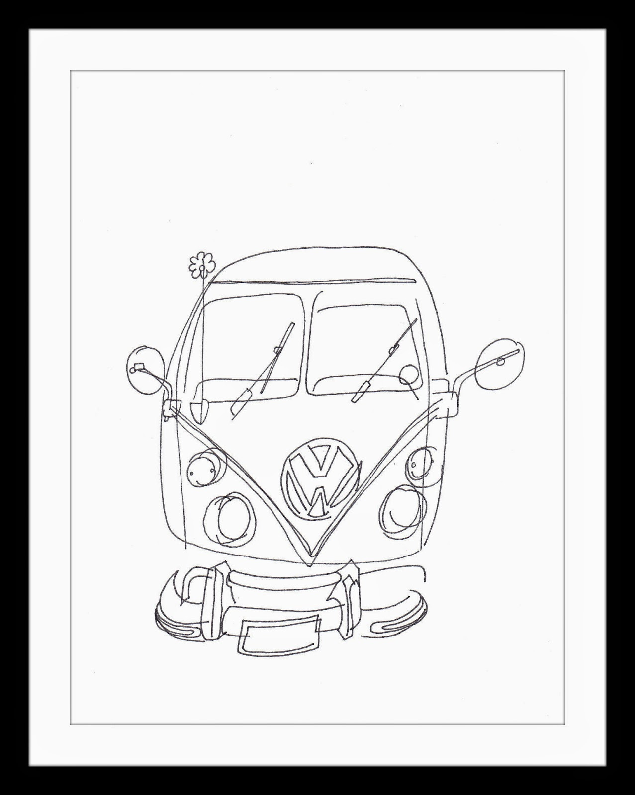 Vw Van Drawing At Getdrawings