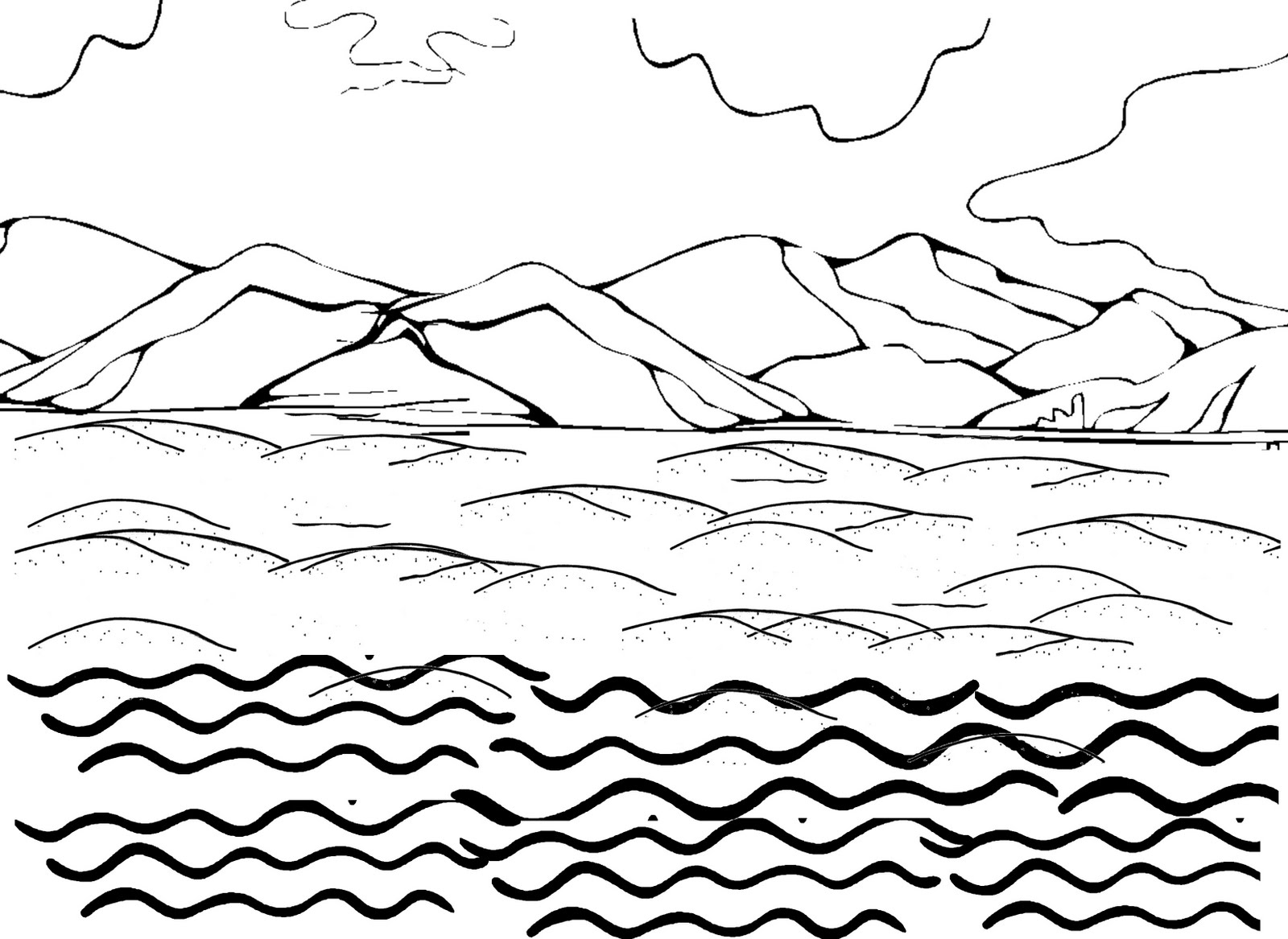 Water Waves Drawing At Getdrawings