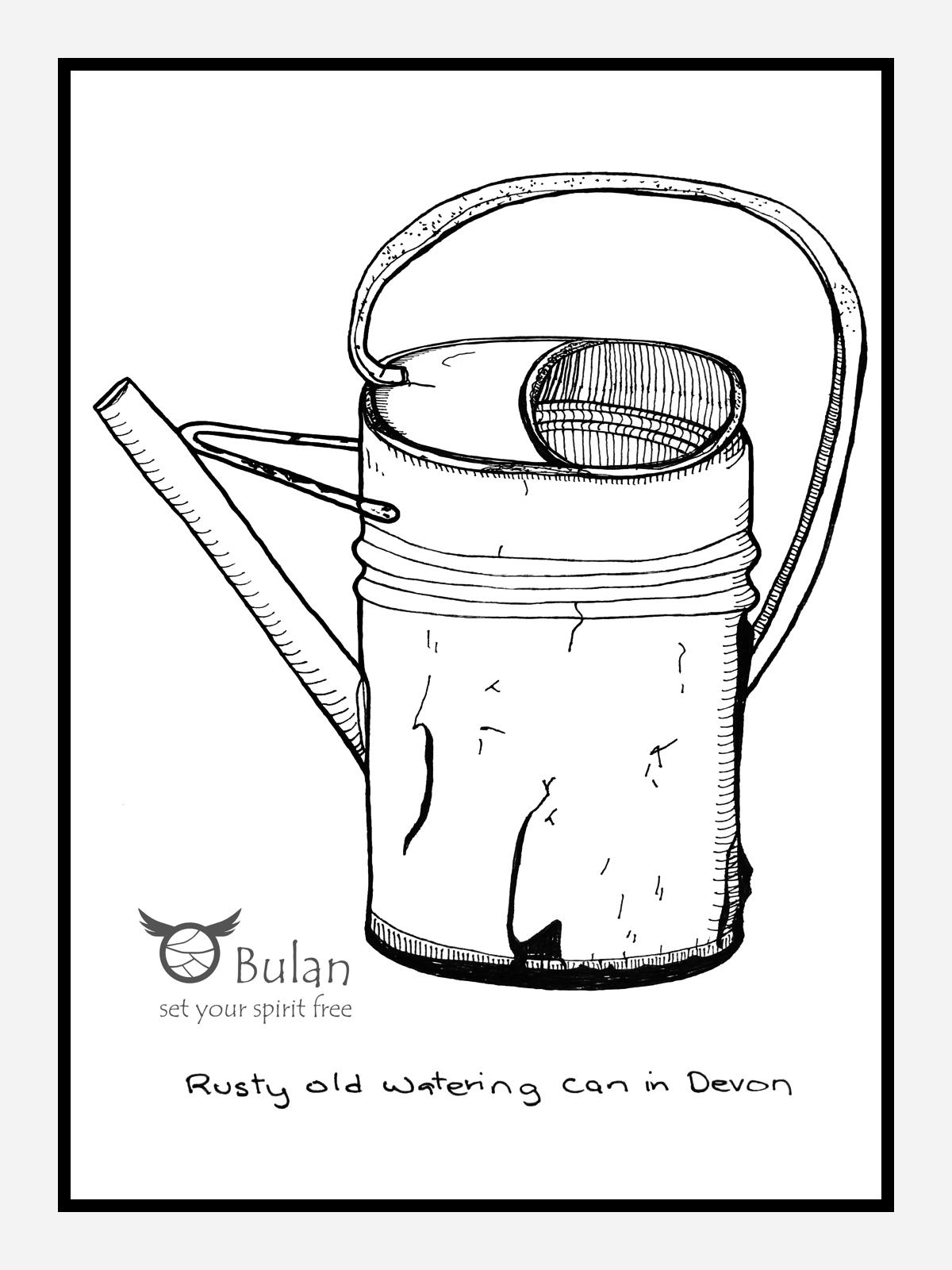 Watering Can Drawing At Getdrawings