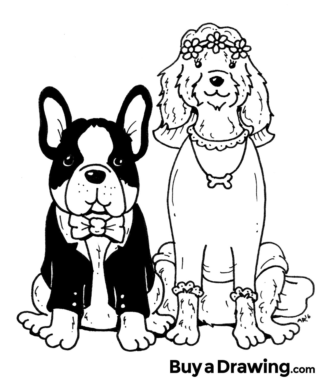 Wedding Cartoon Drawing At Getdrawings