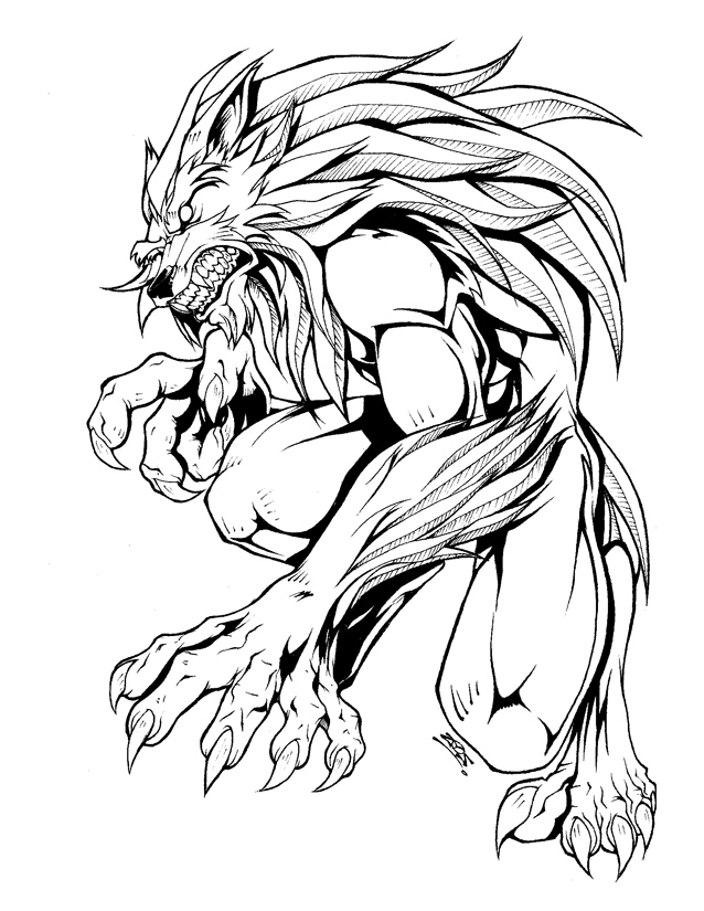 werewolf drawing at getdrawings  free download