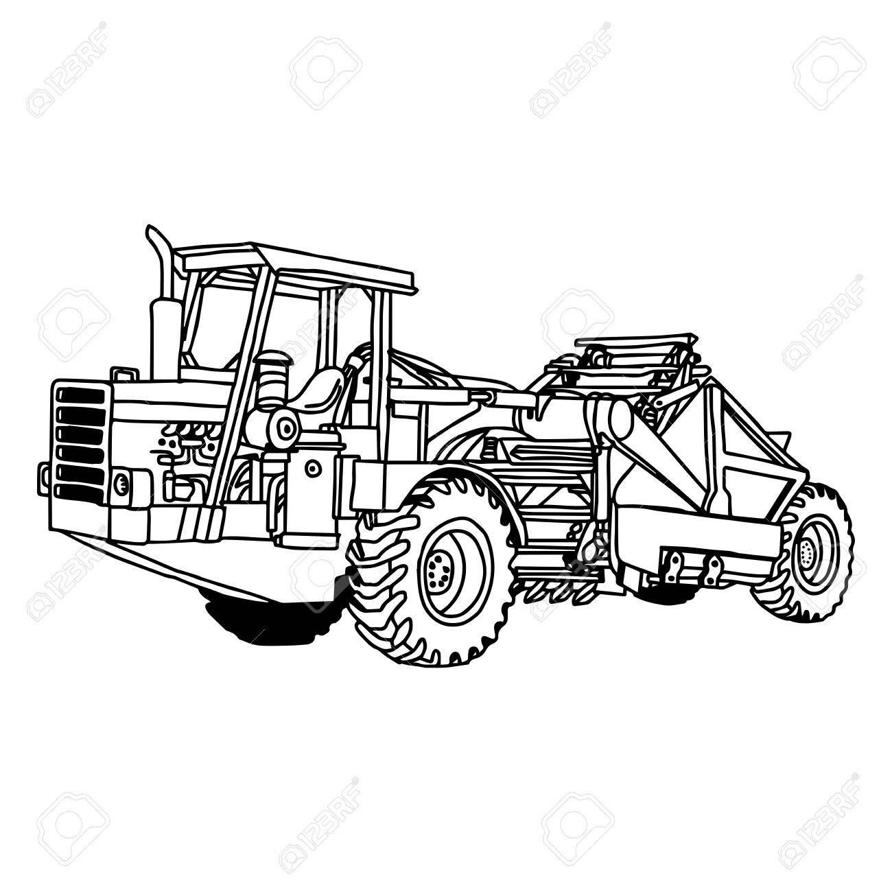 Wheel Loader Drawing At Getdrawings