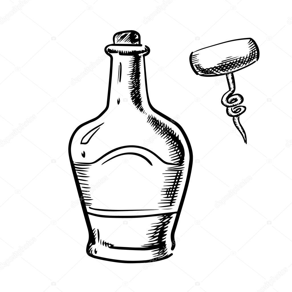 Whiskey Bottle Drawing At Getdrawings