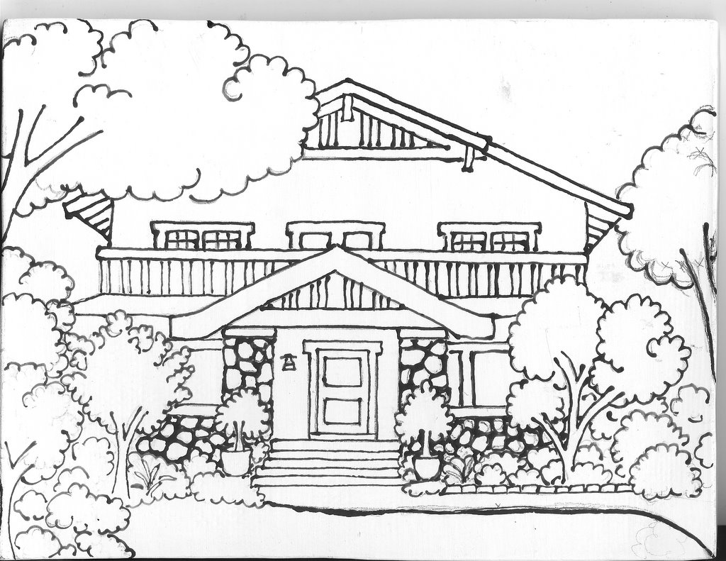 White House Drawing At Getdrawings