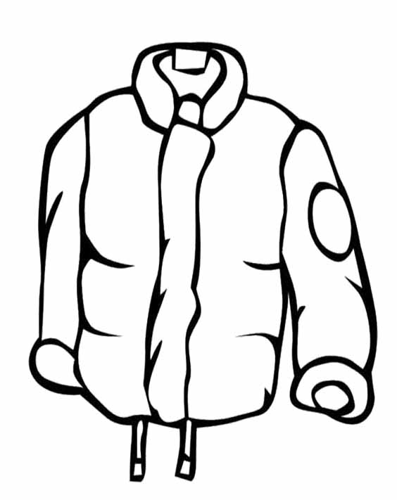 Winter Coat Clipart Black And White