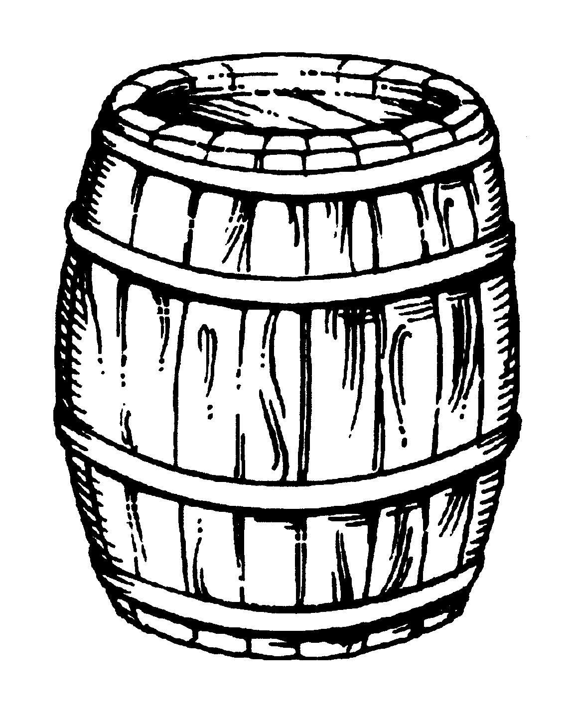 Wooden Barrel Drawing At Getdrawings