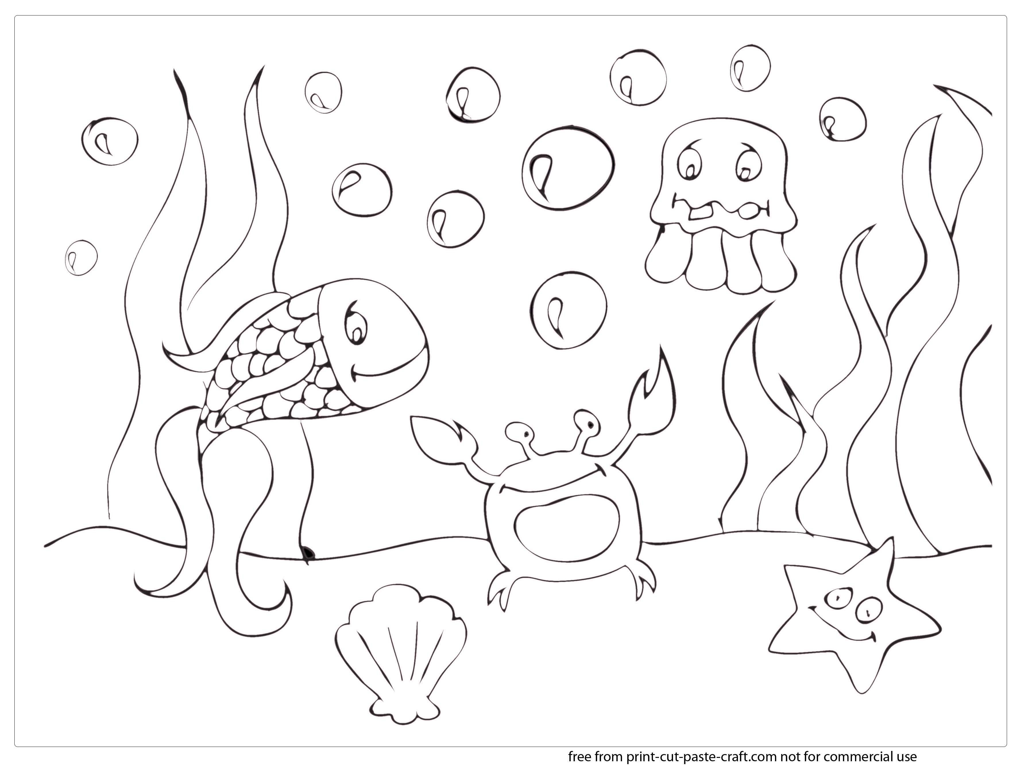 World Under Sea Drawing At Getdrawings