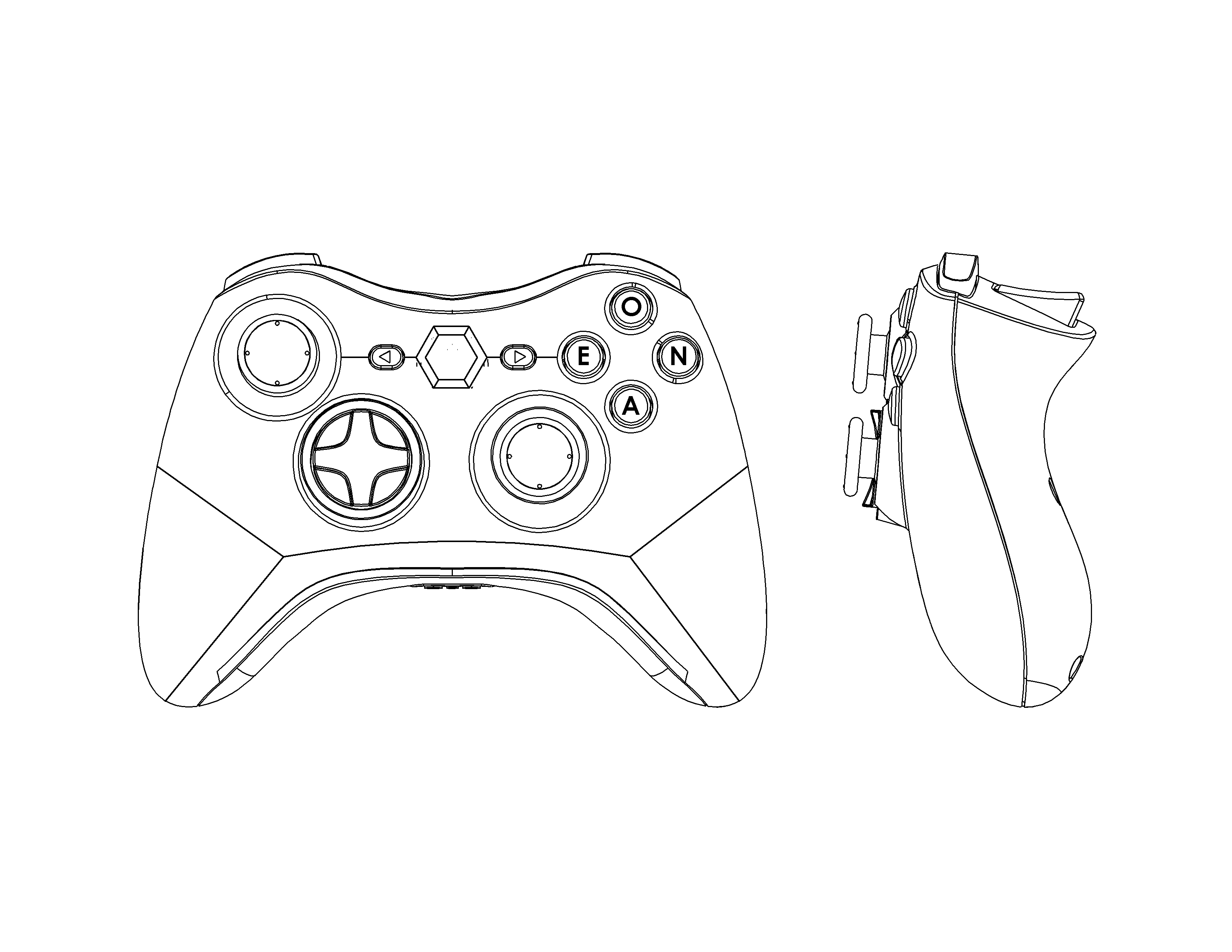 Xbox 360 Controller Drawing At Getdrawings