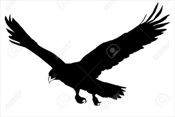 Bald Eagle Head Silhouette