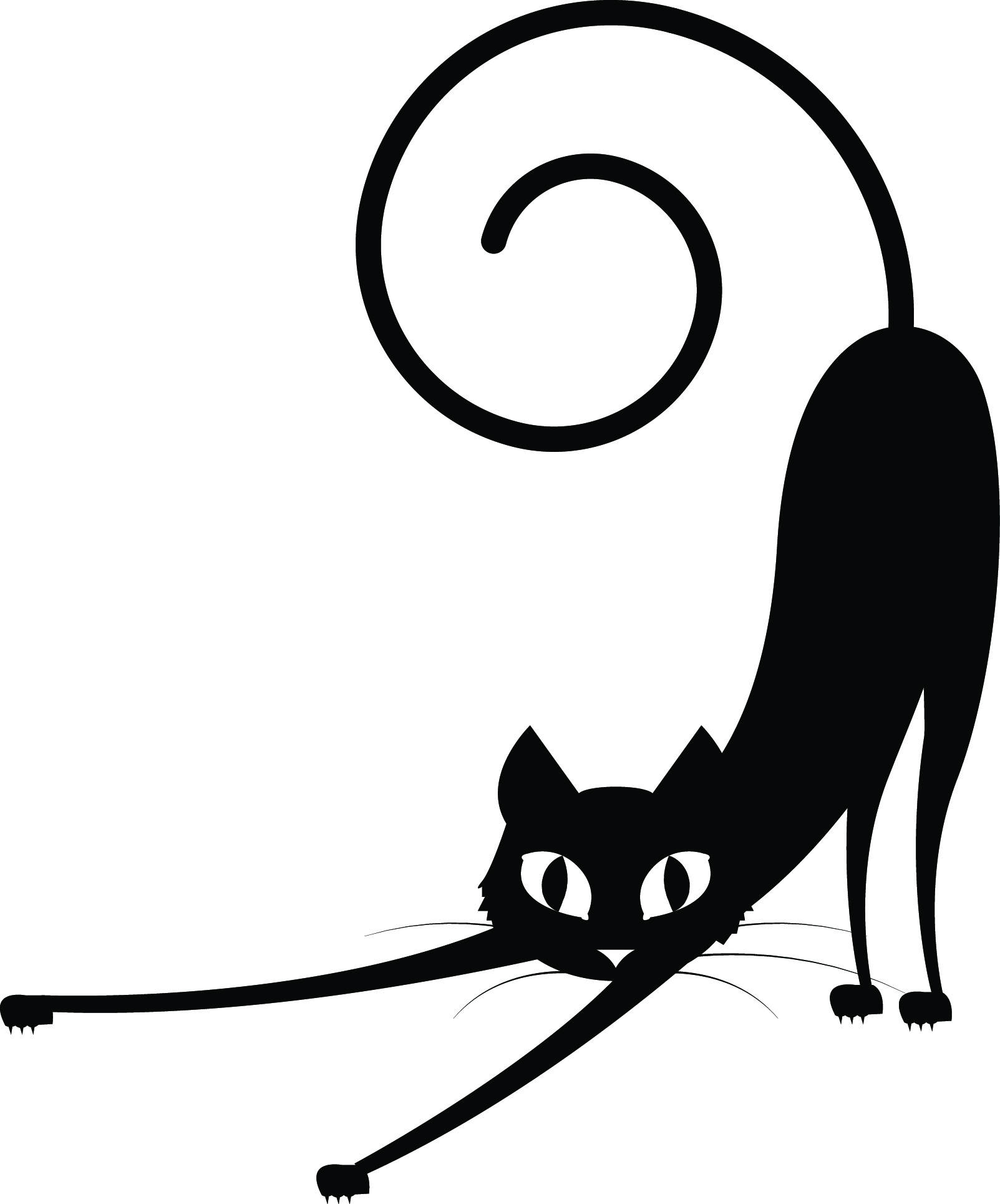 The Best Free Black Cat Silhouette Images Download From