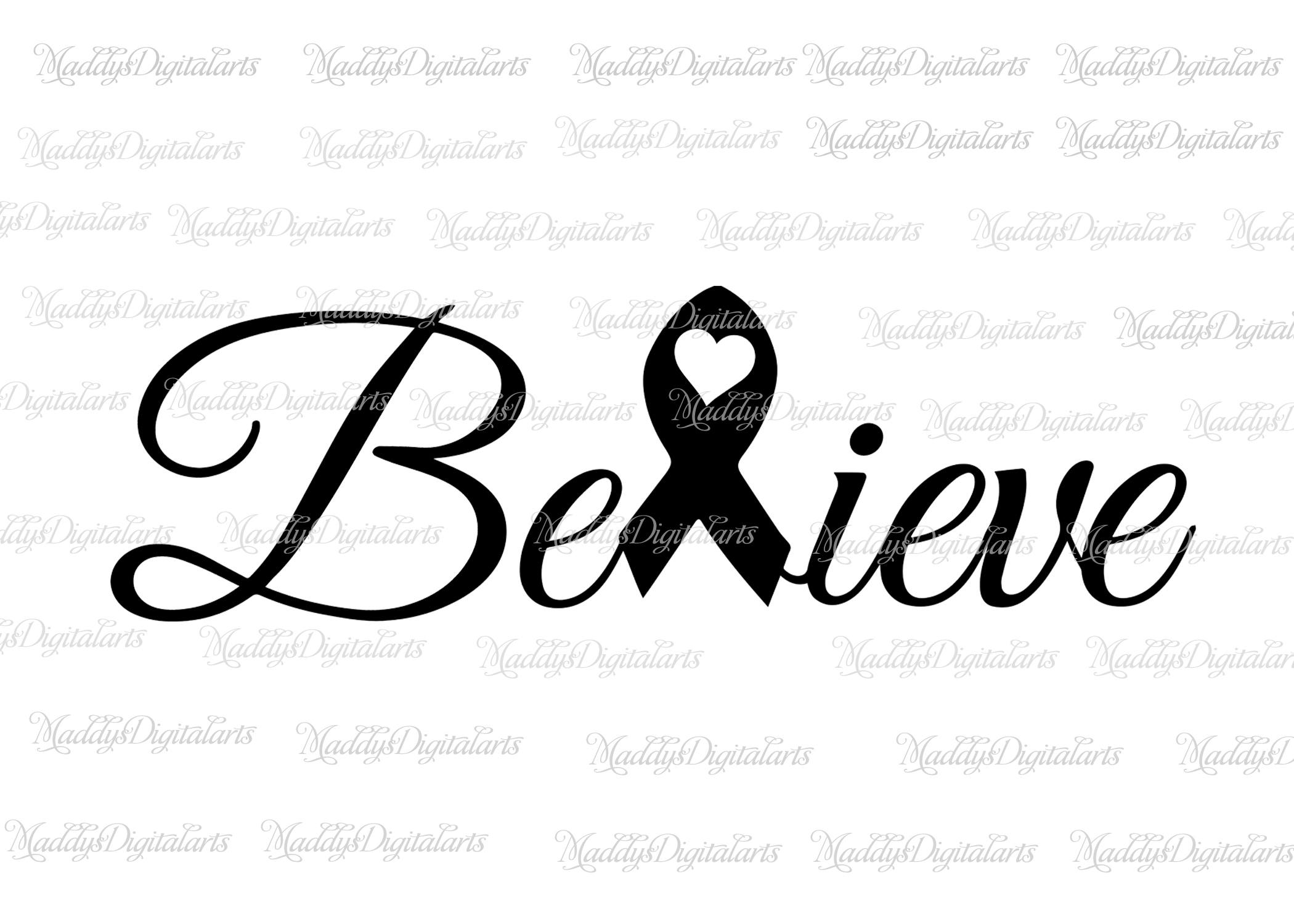 Breast Cancer Ribbon Silhouette At Getdrawings