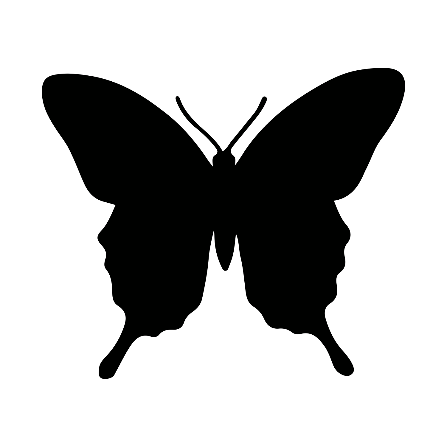 Butterfly Silhouette Clipart