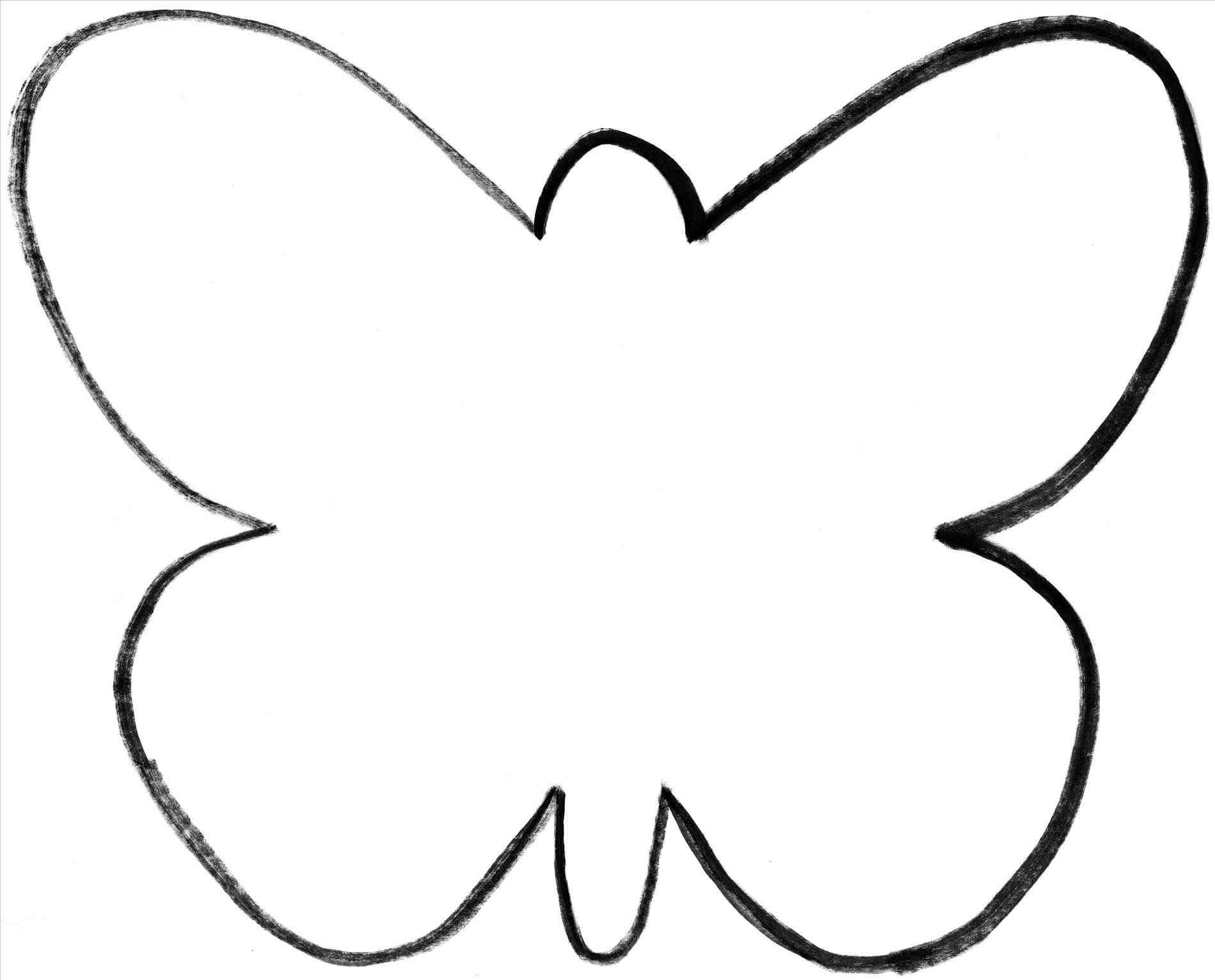 Butterfly Silhouette Template At Getdrawings