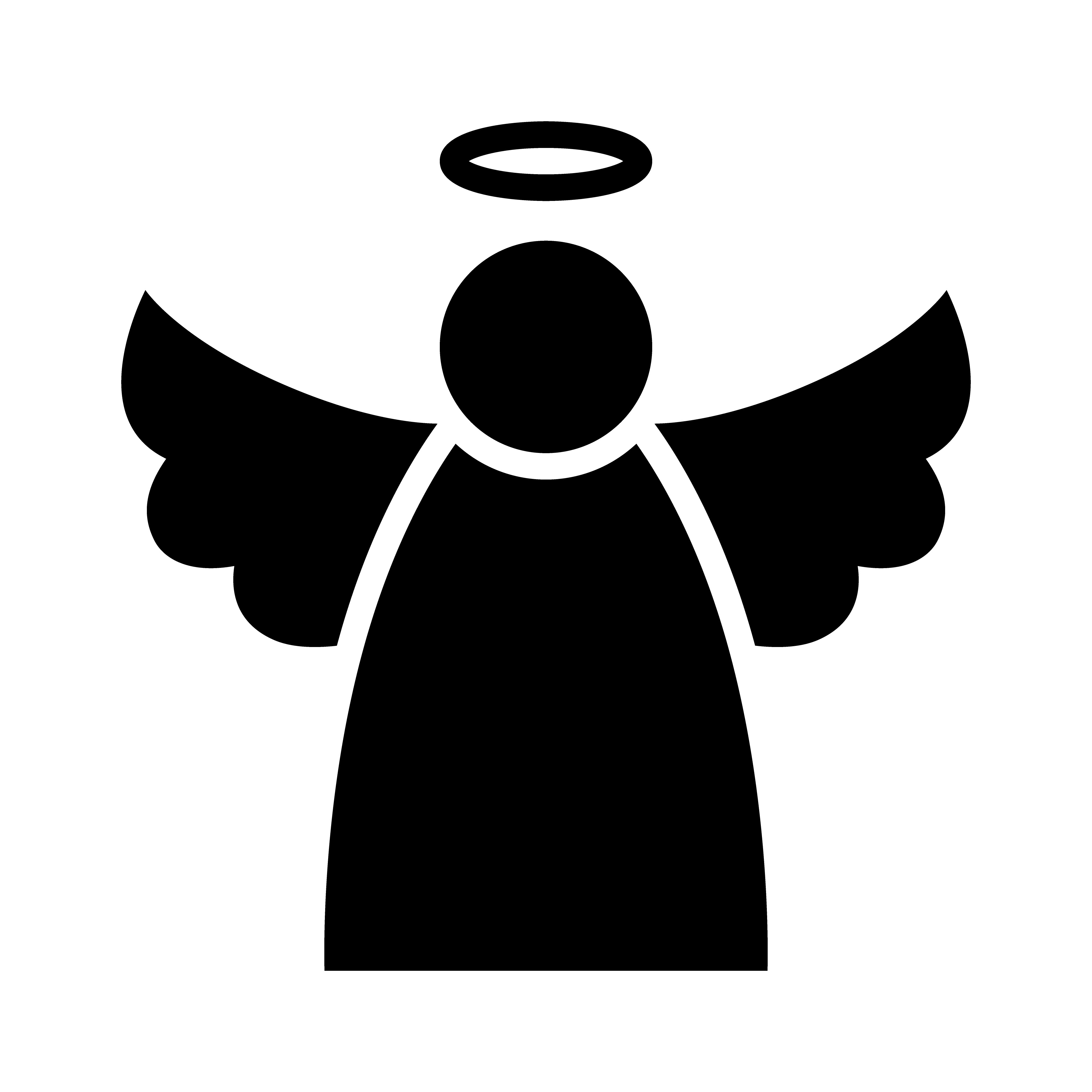 Christmas Angel Silhouette At Free For