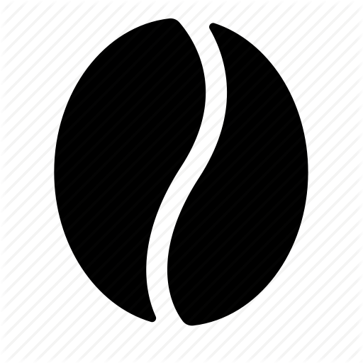 Coffee Bean Silhouette At Free For