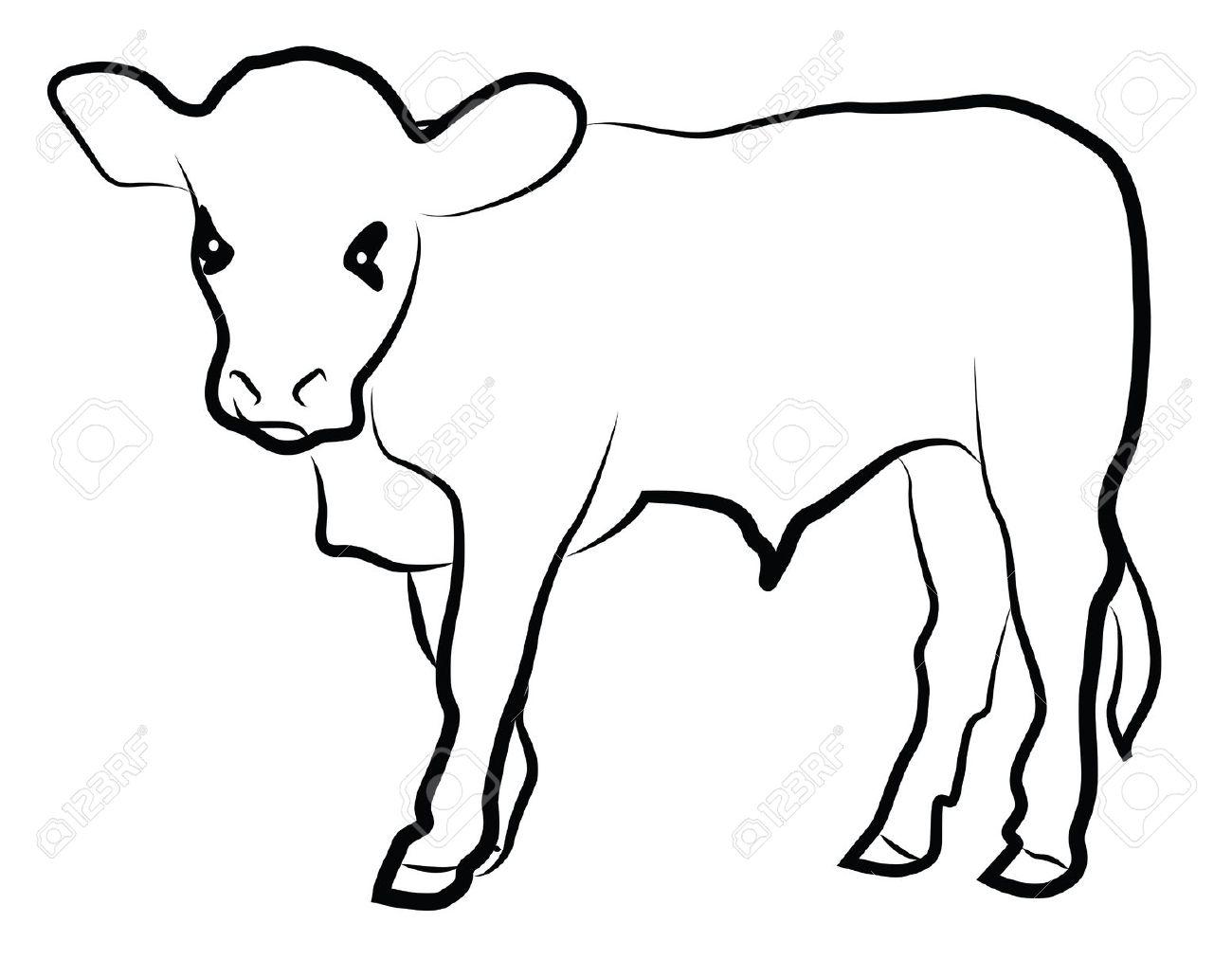Cow Calf Silhouette At Getdrawings