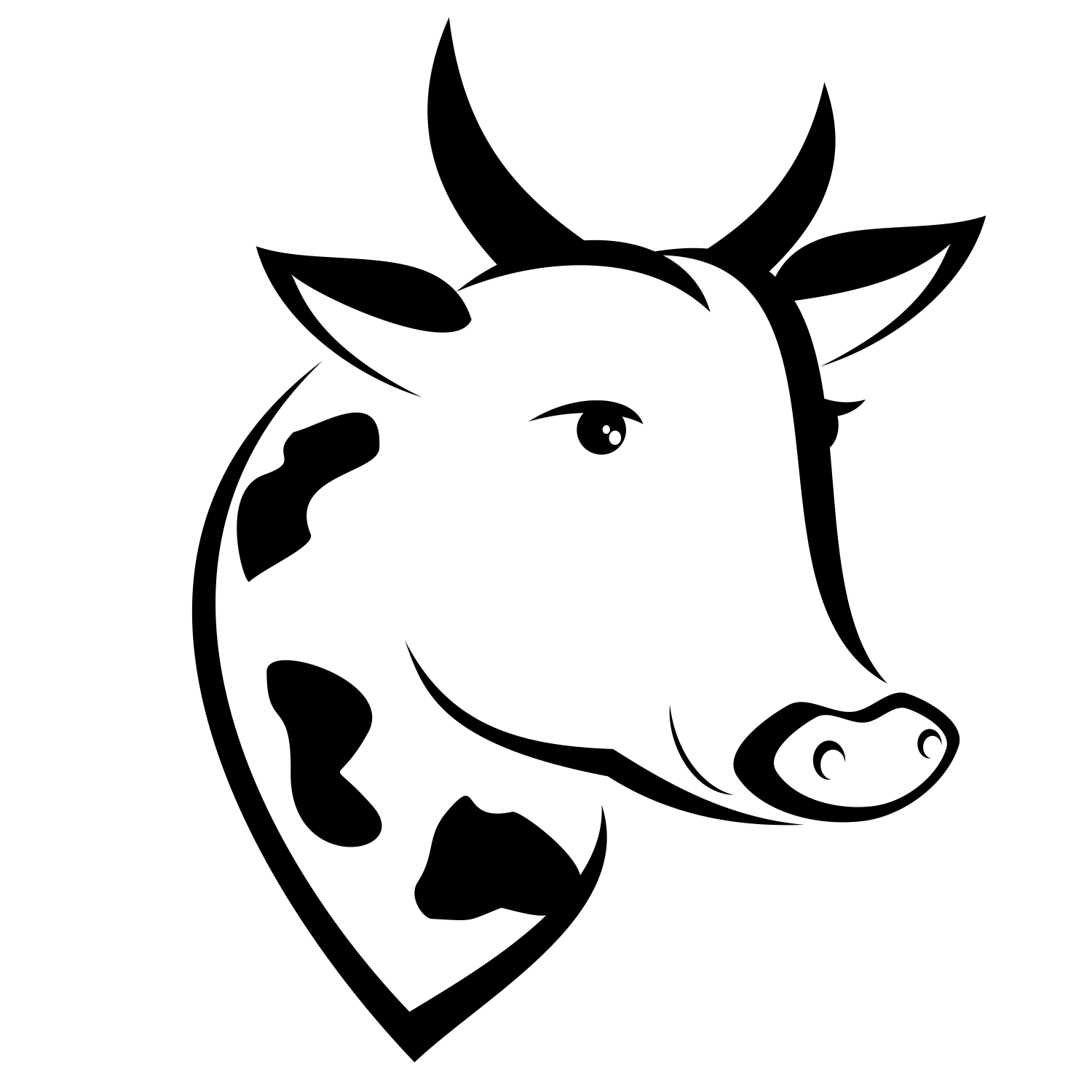 Cow Silhouette Vector At Getdrawings