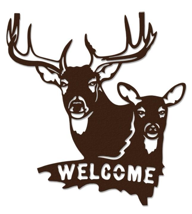 Download Deer And Doe Silhouette at GetDrawings | Free download