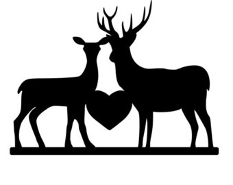 Download Deer Couple Silhouette at GetDrawings | Free download