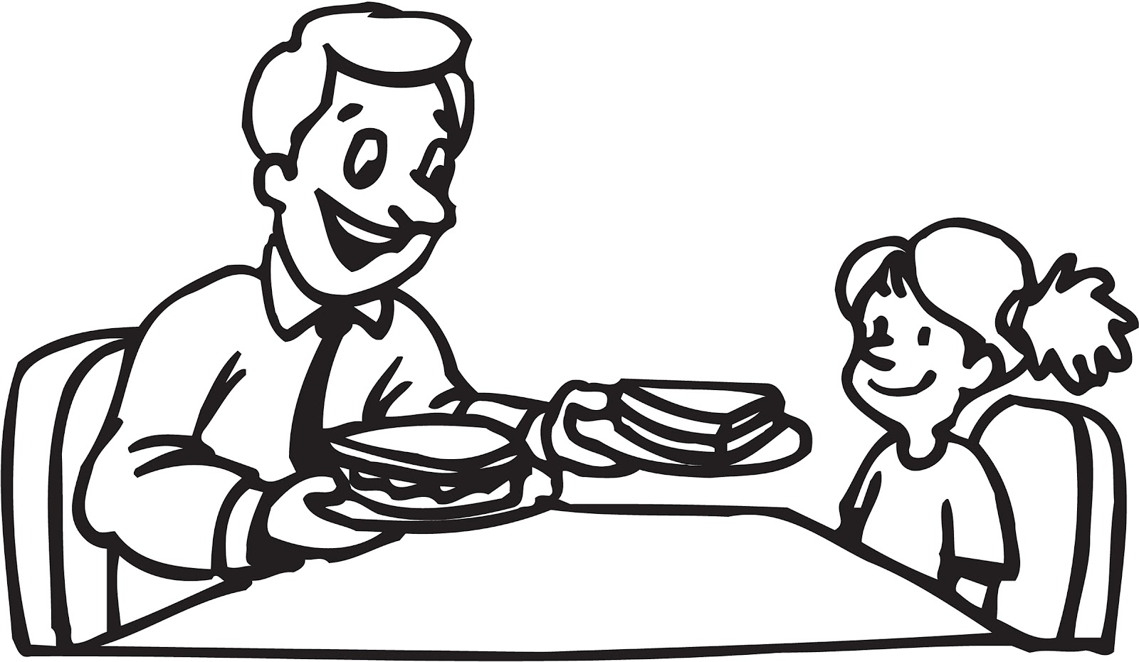 Father Daughter Silhouette Clip Art At Getdrawings