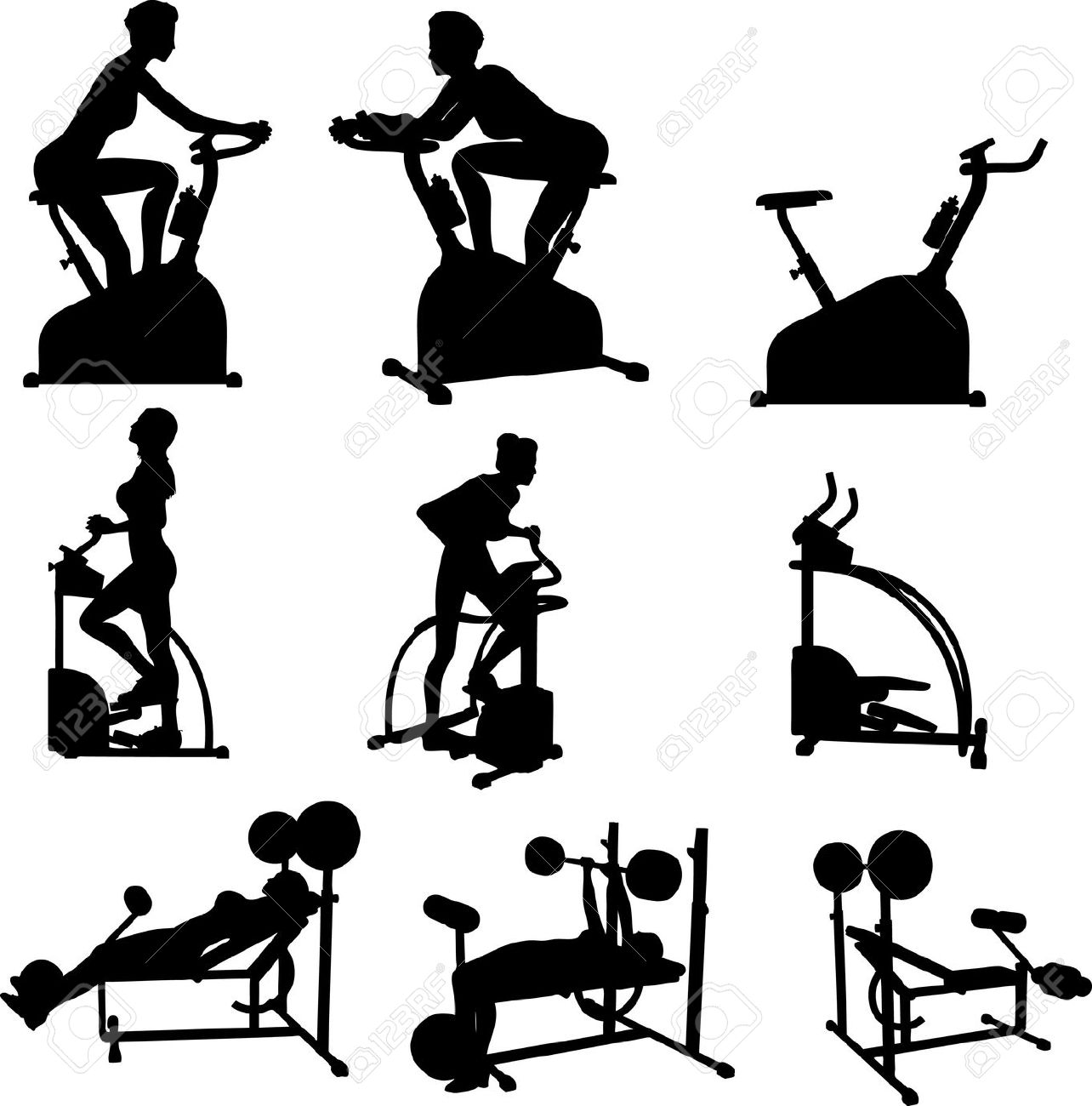 Fitness Silhouette Vector Free At Getdrawings