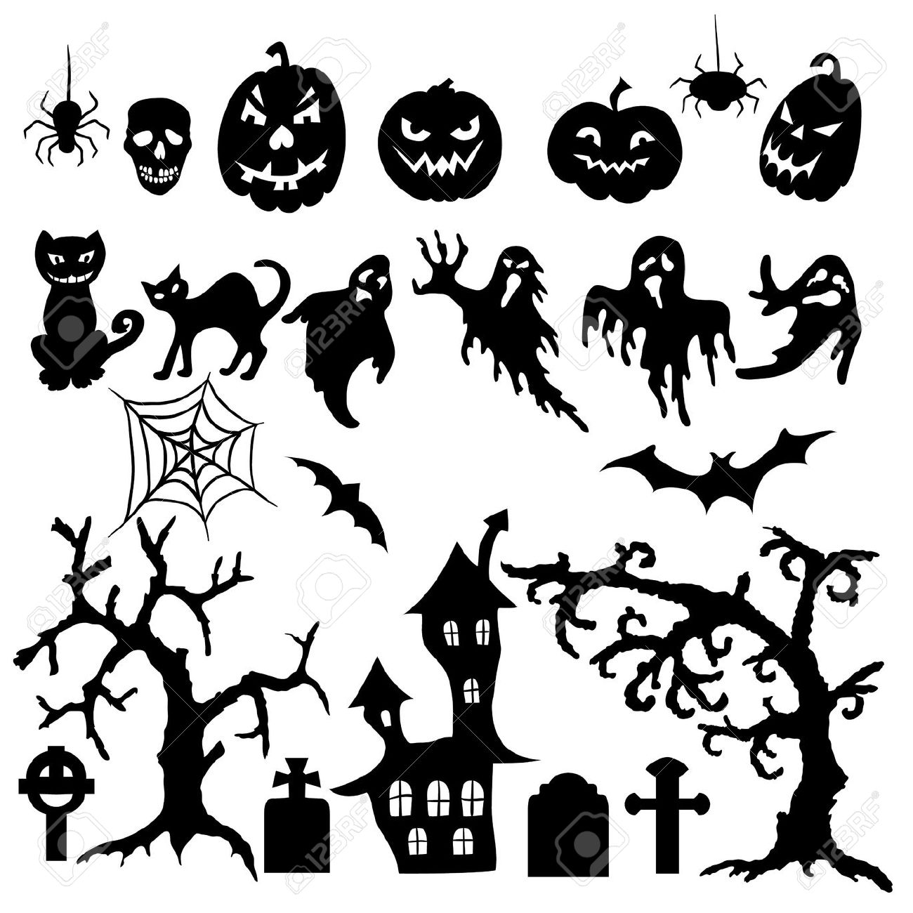 Halloween Silhouette Patterns At Getdrawings