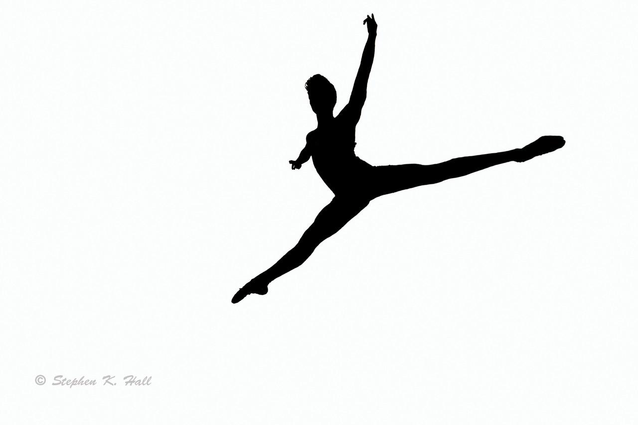 Leaping Dancer Silhouette At Getdrawings