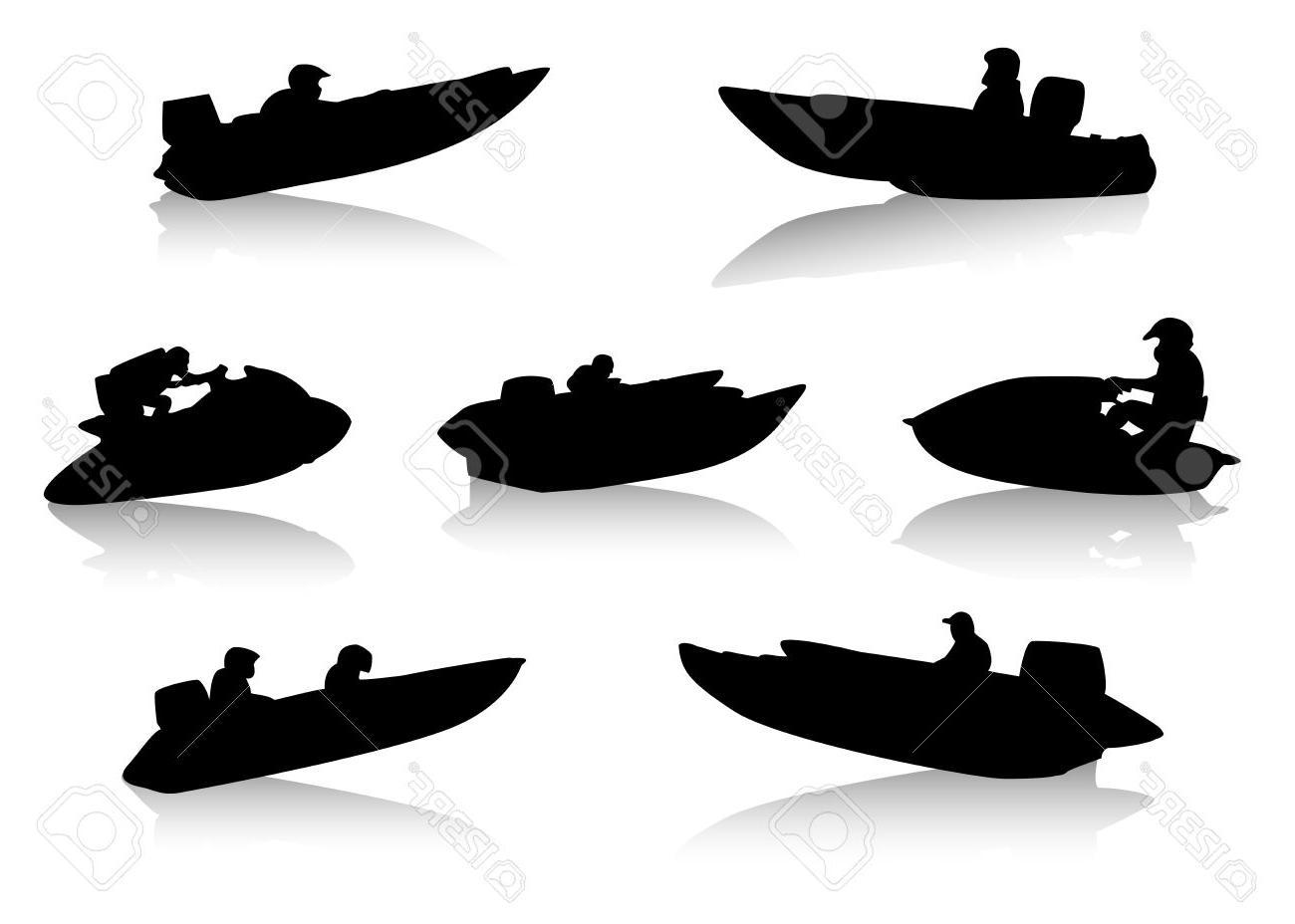 Motor Boat Silhouette At Getdrawings