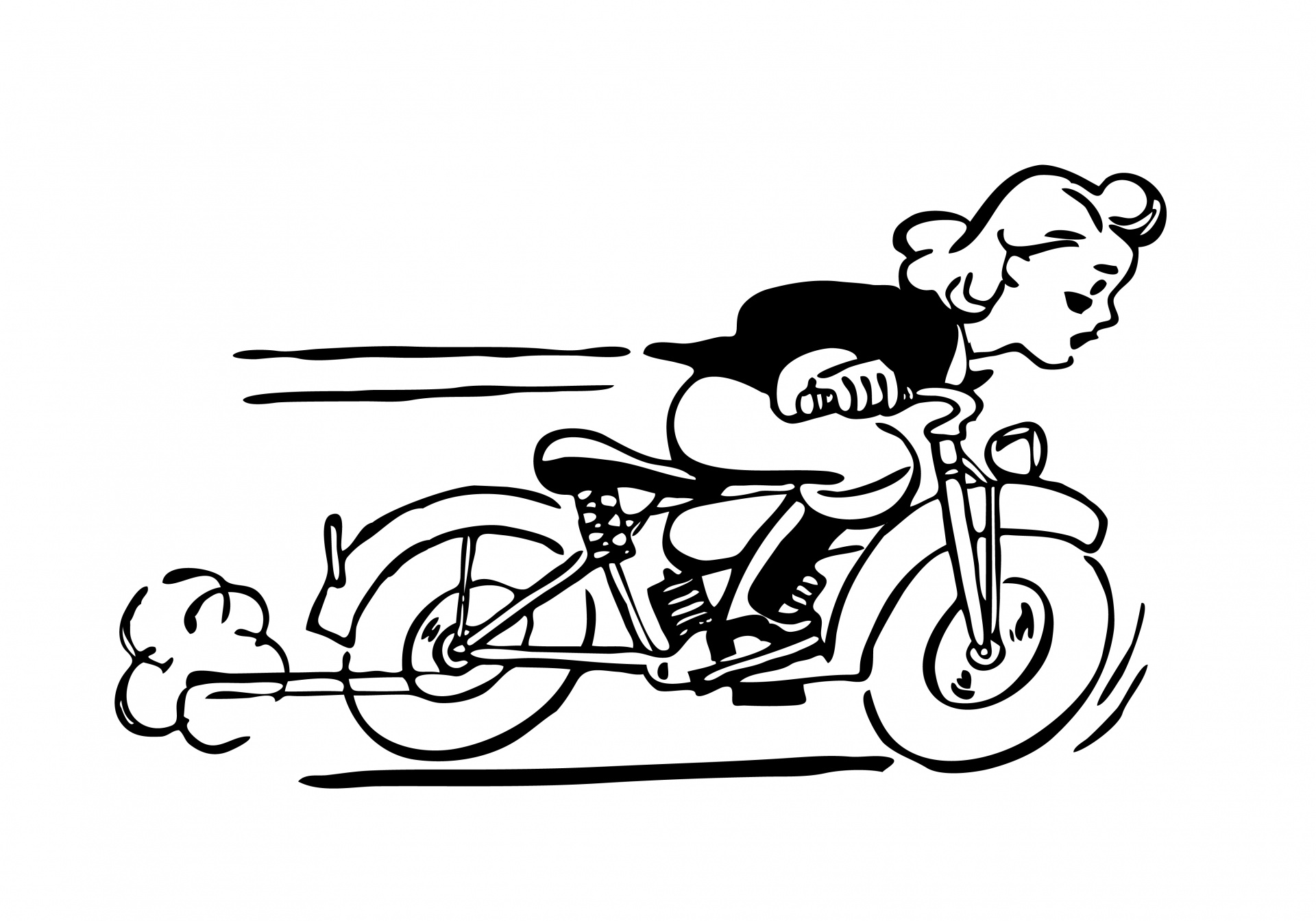 Motorcycle Silhouette Vector Free Download At Getdrawings