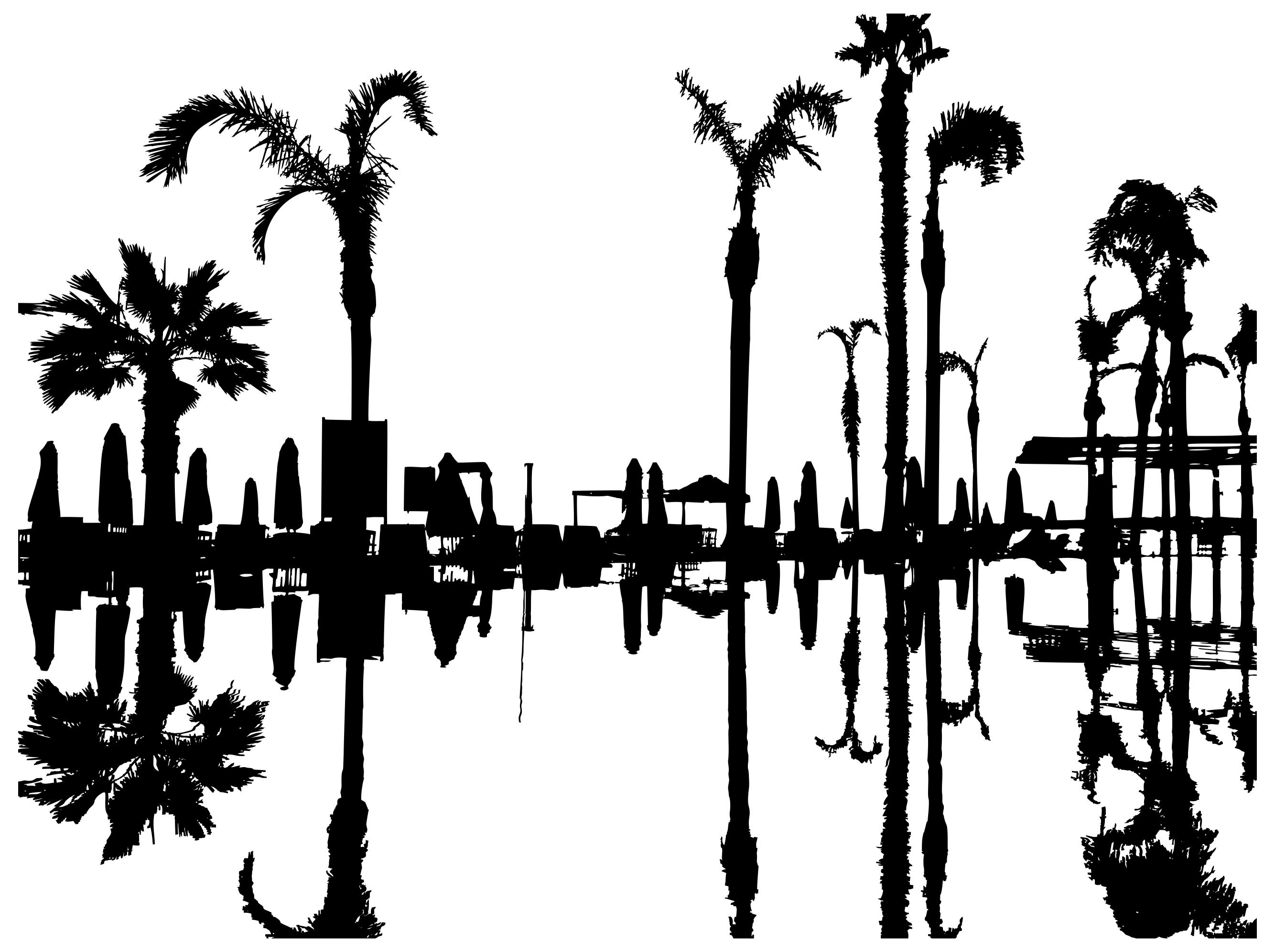 Palm Tree Clip Art Silhouette At Getdrawings