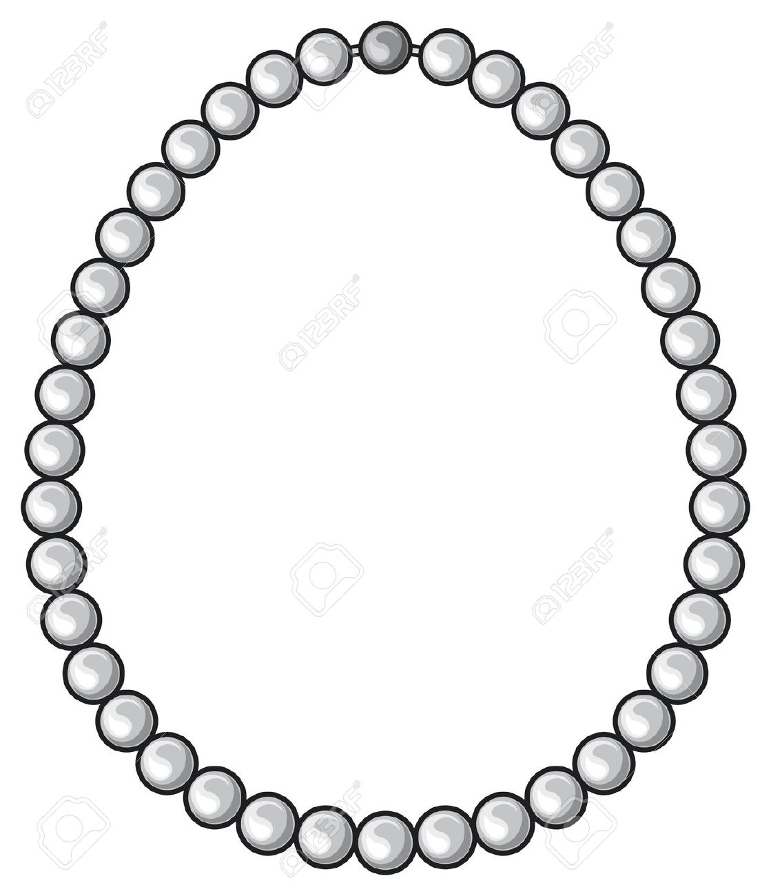 Pearl Necklace Silhouette At Getdrawings