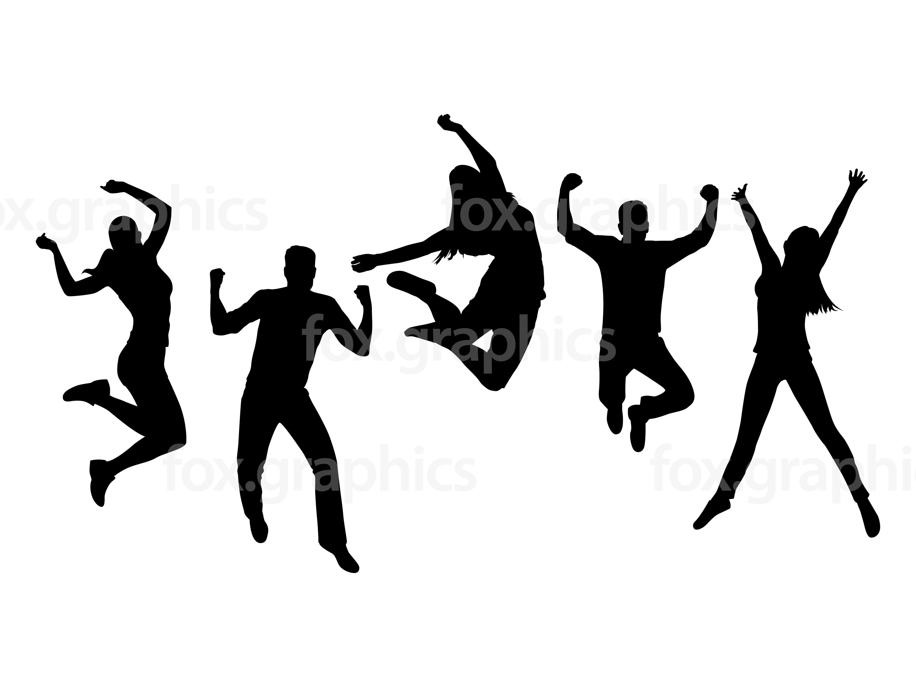 People Jumping Silhouette At Getdrawings
