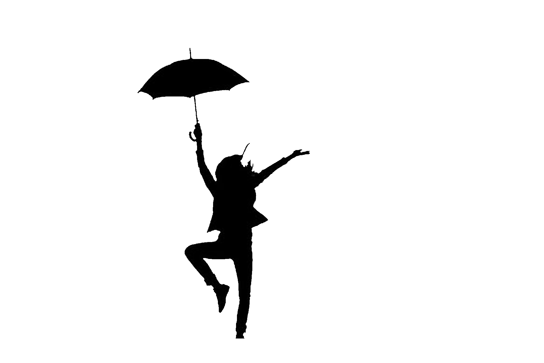 Person Holding Umbrella Silhouette At Getdrawings