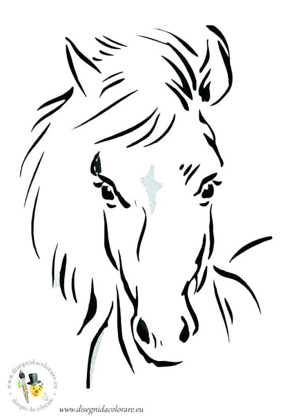 horse head coloring page # 22