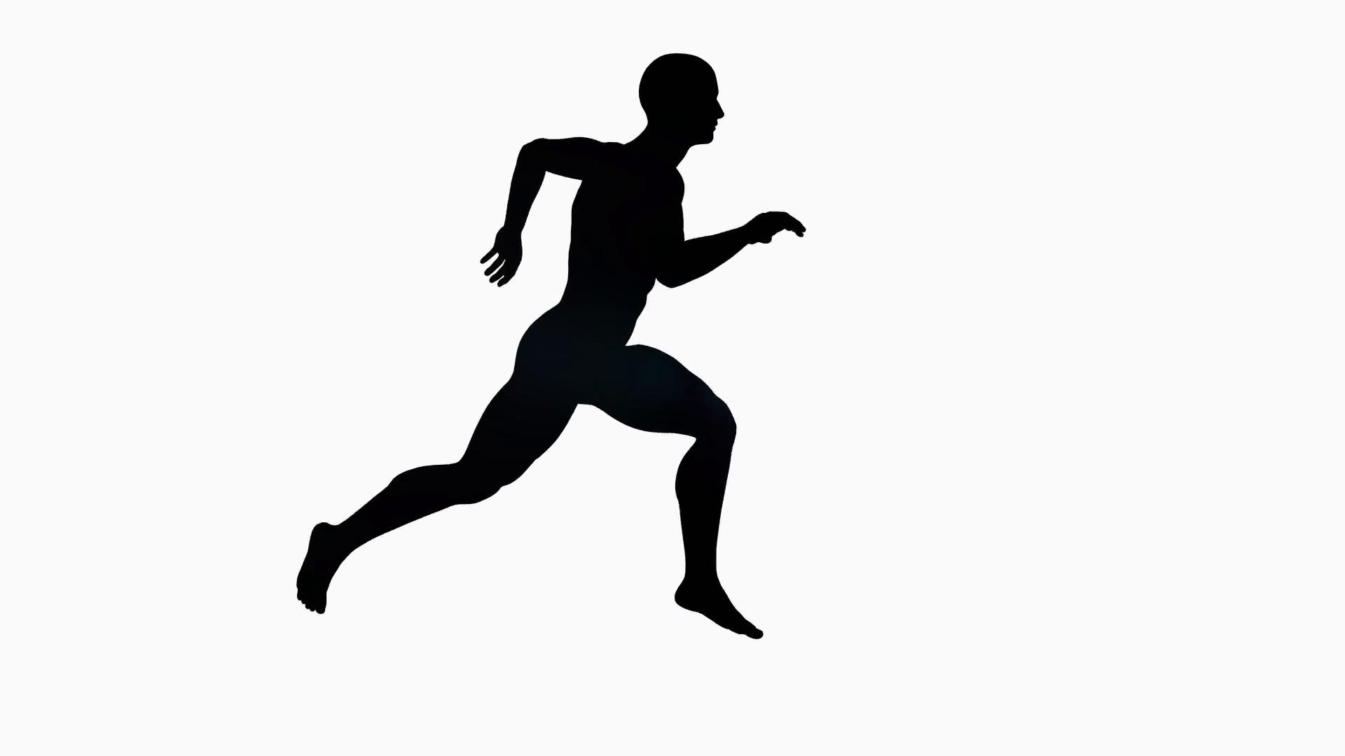 Silhouette Running Man At Getdrawings
