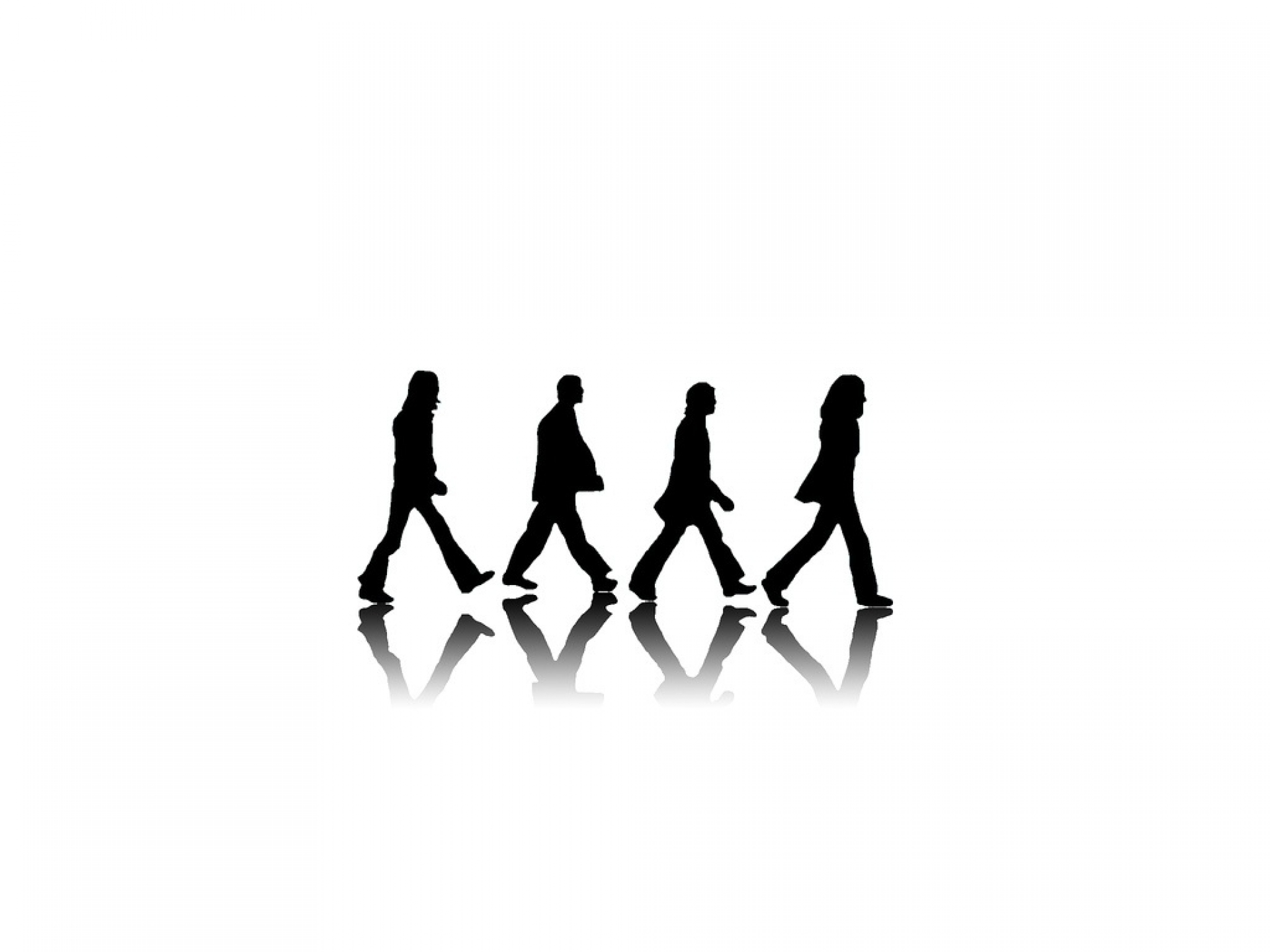 The Beatles Silhouette At Getdrawings
