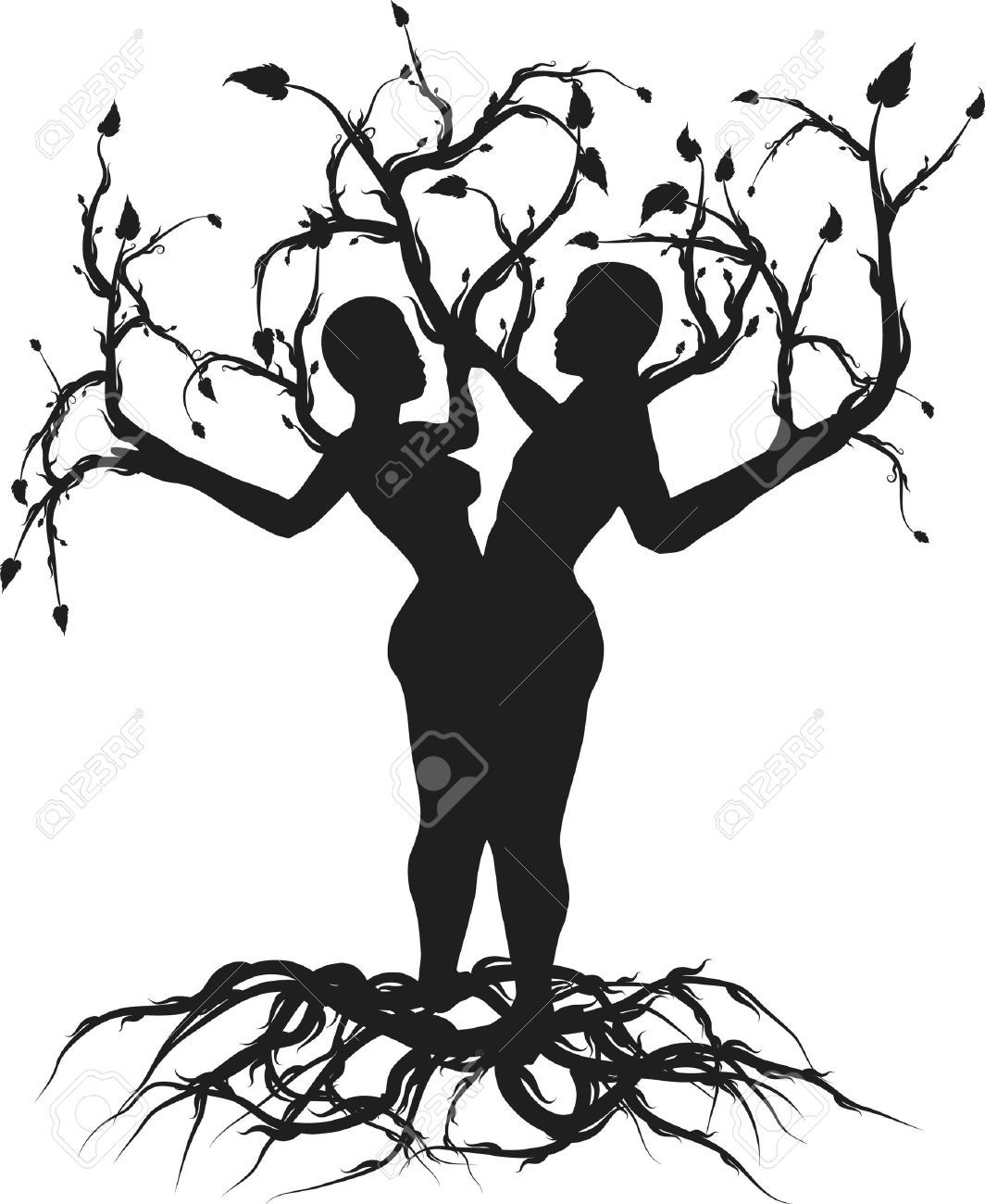 Tree Of Life Silhouette Clip Art At Getdrawings