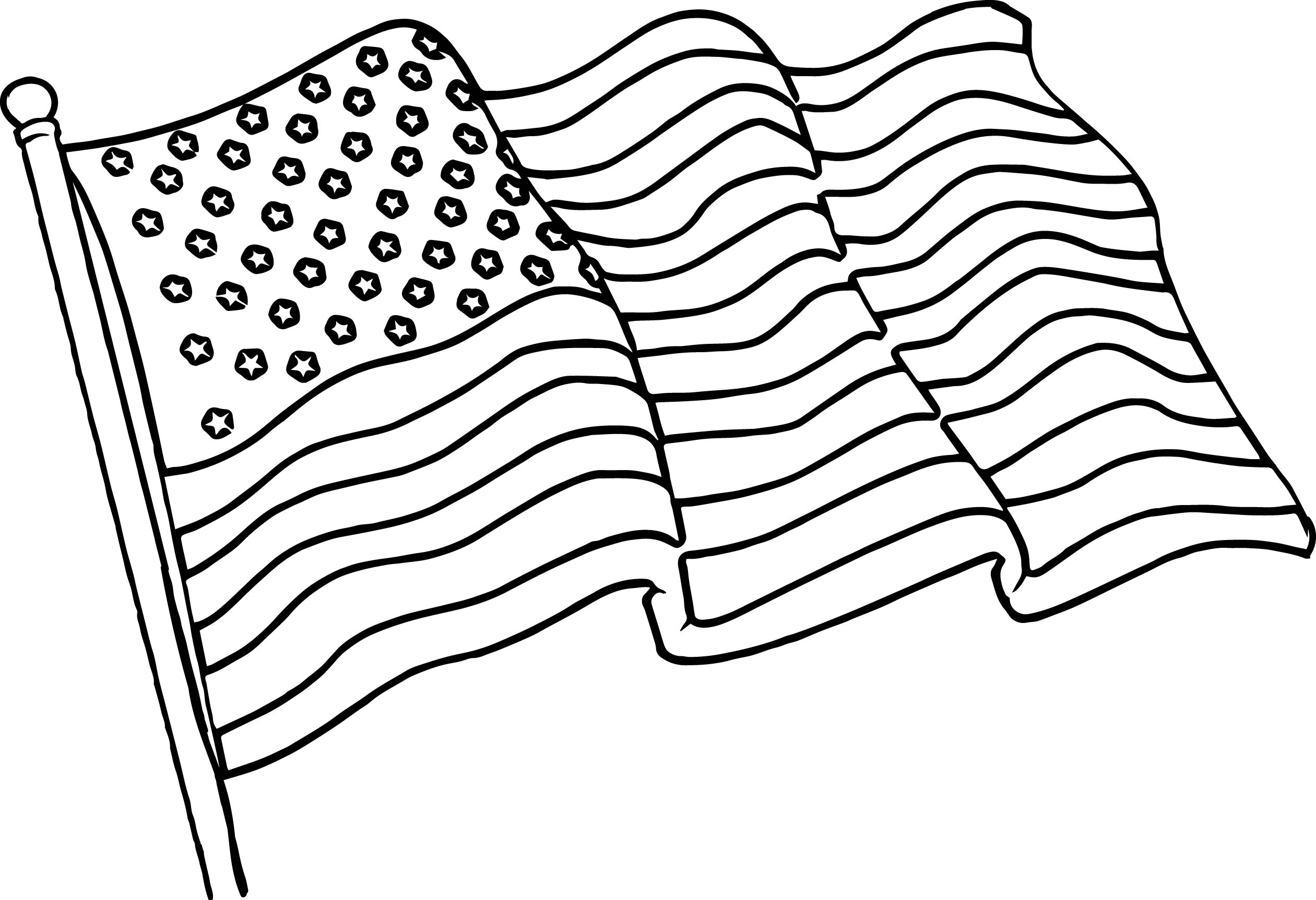 American Flag Drawing Black And White At Getdrawings