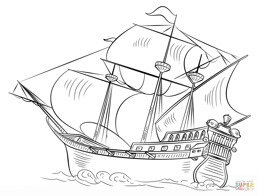 Amerigo Vespucci Ship Drawing At Getdrawings