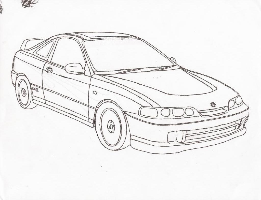 Jdm Car Drawing At Getdrawings