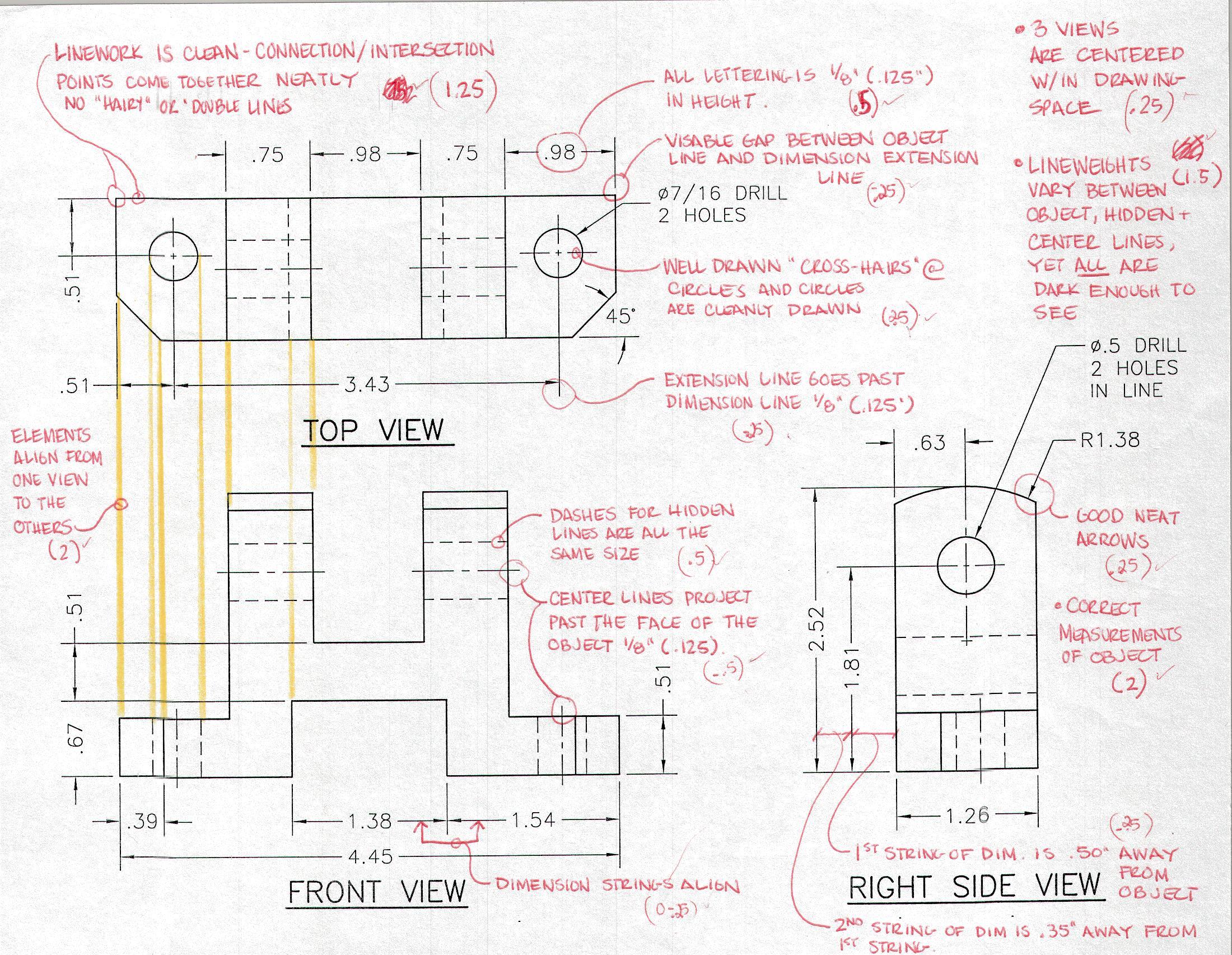 Multiview Drawing Worksheets At Getdrawings