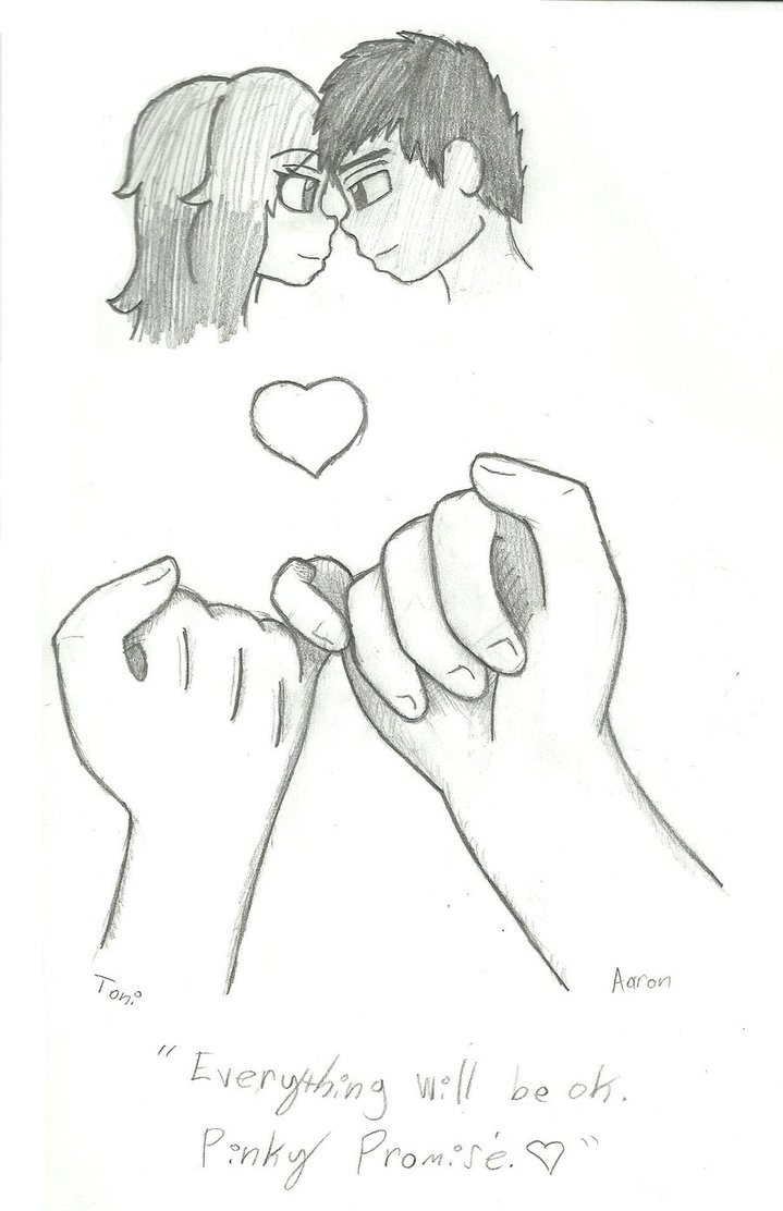 Drawing Finger Promise Pinky