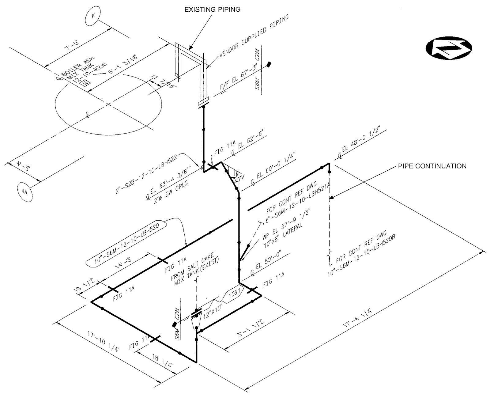 Piping Riser Diagram