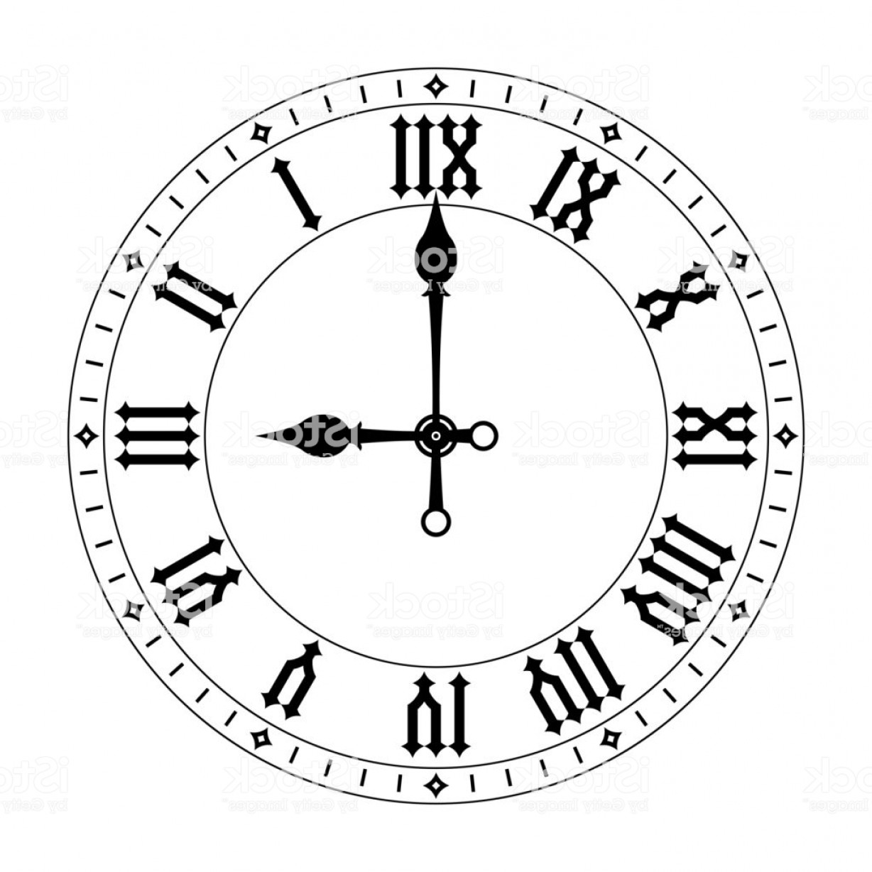 Roman Numeral Clock Drawing At Getdrawings